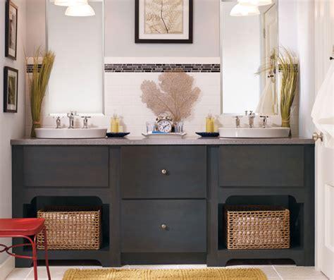 grey bathroom cabinets gray bathroom vanity kemper cabinetry 13028