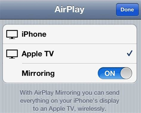 airplay iphone to apple tv broadcast the iphone s live to an apple tv with airplay