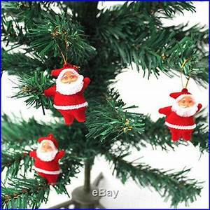 6pcs Christmas Santa Claus Ornaments Festival Party Xmas