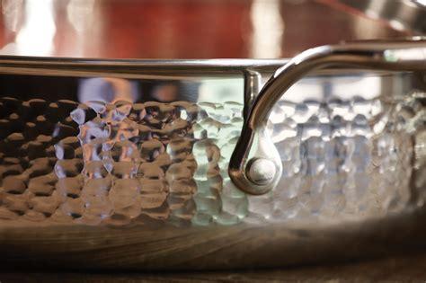 lagostina martellata tri ply hammered stainless steel casserole  quart cutlery
