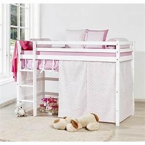 Lit Superposé Princesse : loop princesse lit superpos enfant 90x200cm blanc achat ~ Teatrodelosmanantiales.com Idées de Décoration