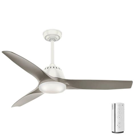 casablanca first home ceiling fan casablanca wisp 52 in led indoor fresh white ceiling fan