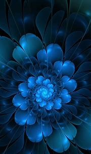 Flower Fractal   SHADES OF BLUE   Pinterest