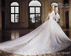 ivory off the shoulder ball gown wedding dresses with lace With wedding dresses with long train