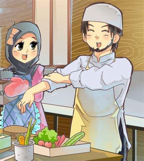 gambar anime islam romantis gambar kartun islami muslim dan muslimah romantis katakan id
