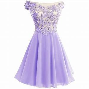 cute lavender lace and chiffon short party dresses purple With short purple wedding dresses