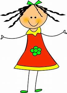 Happy Girl Clip Art at Clker.com - vector clip art online ...