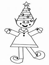 Coloring Elf Pages Dancing sketch template