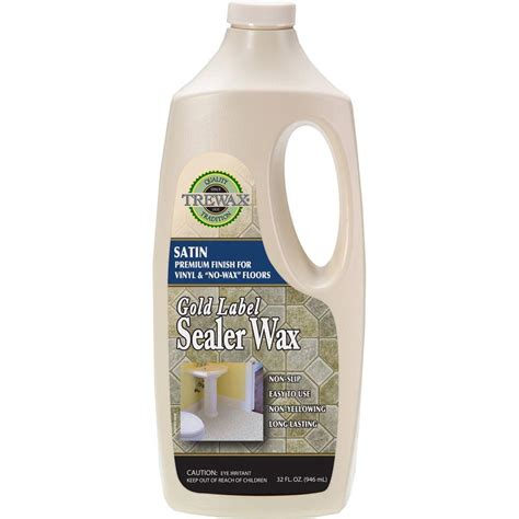 trewax  oz gold label sealer wax satin finish floor