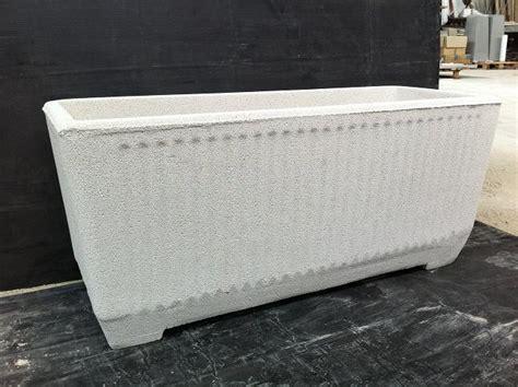 vasi in graniglia vaso fioriera rettangolare in cemento torino 80x32 h36