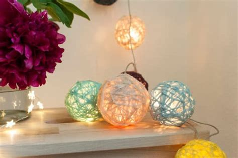 lichterkette selber machen cotton lichterkette diy handmade kultur