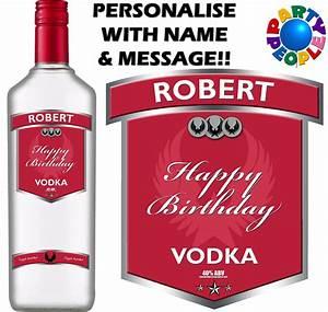personalised vodka label With custom vodka labels
