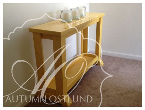 ana white  yellow console table diy projects