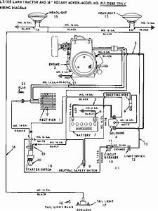 10e Lawn Tractor And 36 In Rotary Mower  Wiring Diagram