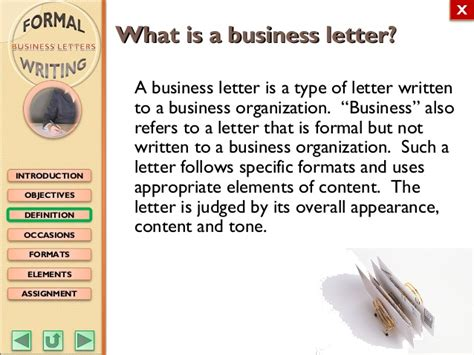 english  formal writing business letters