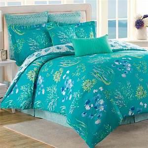 Beachcomber, Turquoise, Ocean, 8, Pc, Comforter, Bed, Set