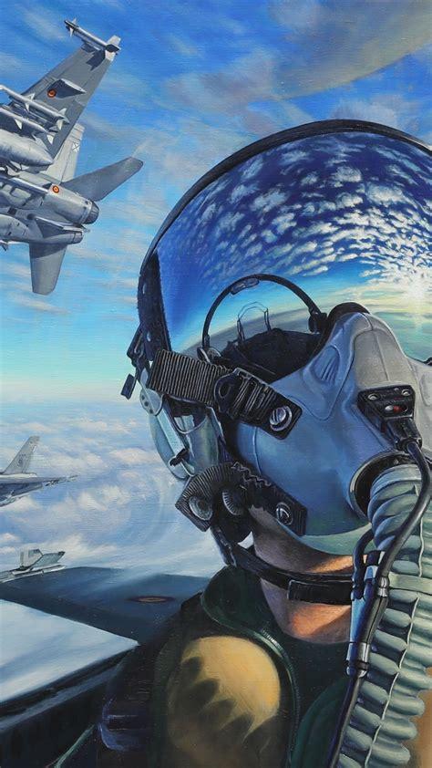 wallpaper pilot fighter aircraft artwork  art