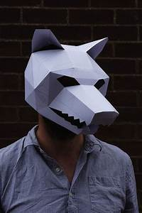 For Halloween  Brilliant 3d Masks Made With Cardboards And Simple Tools