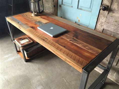 bureau pc ikea weathered reclaimed wood desks wood desk