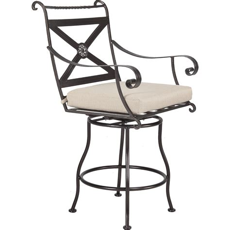 bellini swivel counter stool with arms hauser s patio