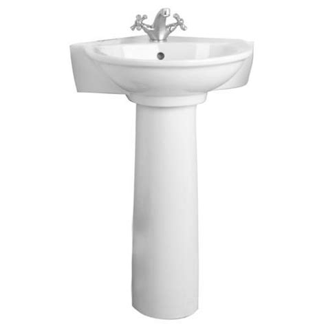 Menards White Pedestal Sink by Barclay Evolution Pedestal Sink One Faucet At Menards 174