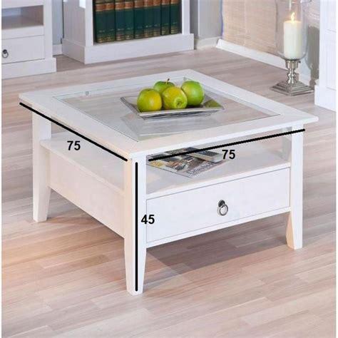 tables basses tables et chaises table basse design provence blanche en pin massif et verre