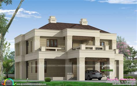 kerala colonial home kerala home design and floor plans