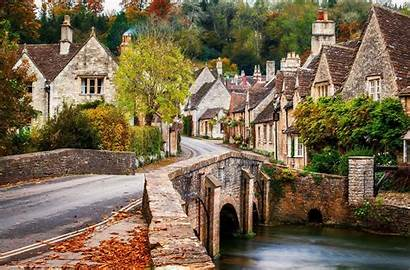 Wallpapers England Castle Combe Town Windows Spring