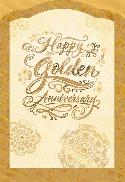 golden wishes  anniversary card greeting cards hallmark