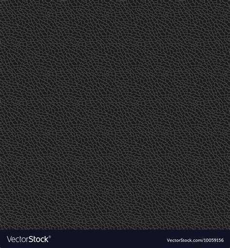 Black Leather Background Black Leather Texture Seamless Pattern Background Vector Image