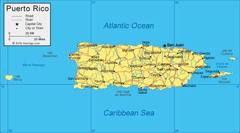 puerto rico map  satellite image