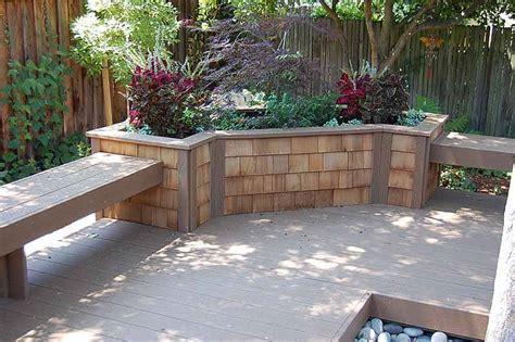 retaining walls a deck retaining wall planter box