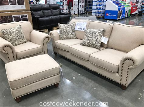 sofa chair and ottoman synergy home fabric sofa chair ottoman set costco