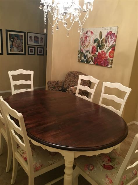 Painted Kitchen Furniture by Diy Chalk Painted Kitchen Table And Reupholstered Chairs