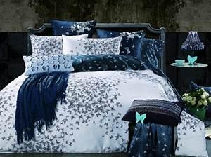 Parure lit bleu housse de couette orange direct literie for Chambre à coucher adulte avec carrefour housse de couette 1 personne