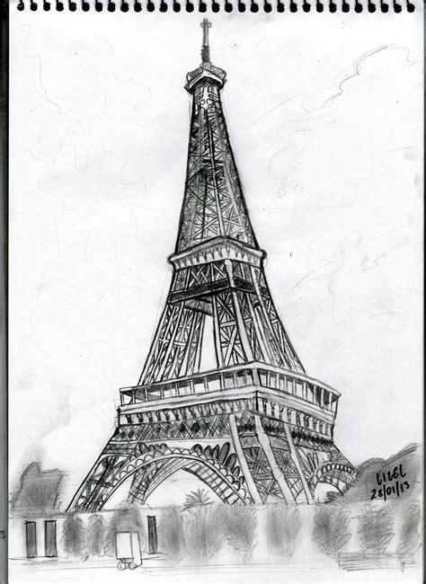 Eiffel Tower Drawing By Lizelsequerra On Deviantart