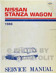 1986 Nissan Stanza Wagon 4wd Repair Shop Manual Original