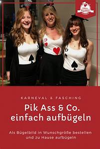 Bügelbild Selber Machen : spielkarten pik karo herz kreuz in 2020 fasching ~ Watch28wear.com Haus und Dekorationen