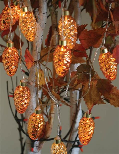pine cone led string lights
