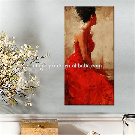elegant women painting artred dress women wall decoration