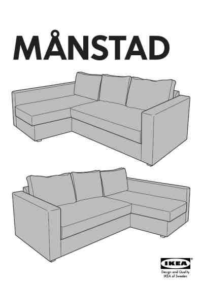 canap manstad ikea ikea manstad corner sofa bed furniture user guide