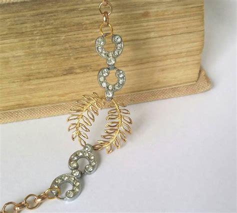deco gold deco and gold laurel bracelet by la epoque