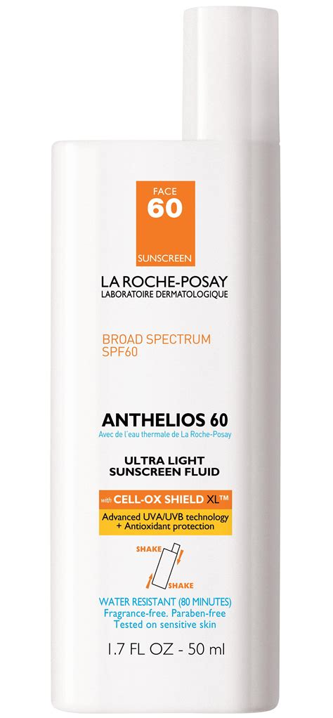 la roche posay anthelios 60 ultra light sunscreen fluid la roche posay anthelios 60 ultra light