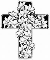 Easter Religious Colouring Pages Coloring Cross Jesus Crosses Printable Christian Sheets Adults Printables Spring Sheet Egg Christianity sketch template