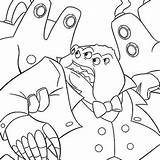 Monsters Inc Coloring Pages Waternoose Disney Noose Monster Henry Template Printables Roz Arrest Boss Mike sketch template