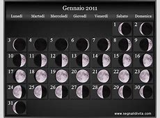 Calendario Lunare 2011 Fasi lunari