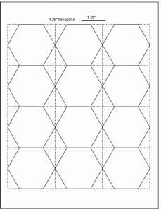 Tips for cutting hexagon templates geta39s quilting studio for Hexagon templates for quilting free
