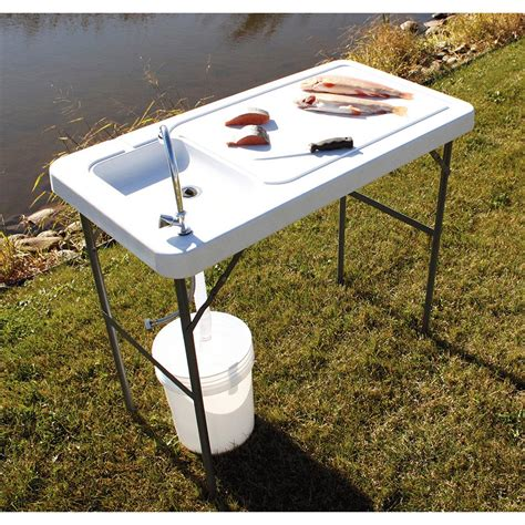 folding fish cleaning table guide gear fish game cleaning processing folding table