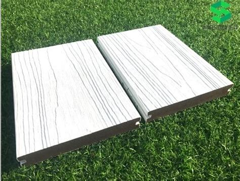 tongue  groove composite tech decking white composite