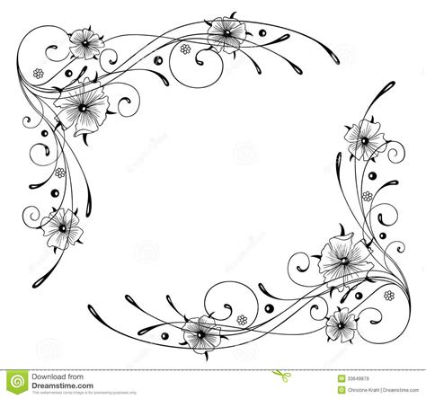 nasturtium flowers frame stock vector illustration
